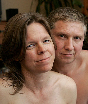 NO MEAT AND TWO VEGANS: Christchurch couple Nichola and Hans Kriek are vegans. While she would not describe herself as a vegansexual, Nichola Kriek said she could understand people not wanting to get too close to non-vegan or non-vegetarians.