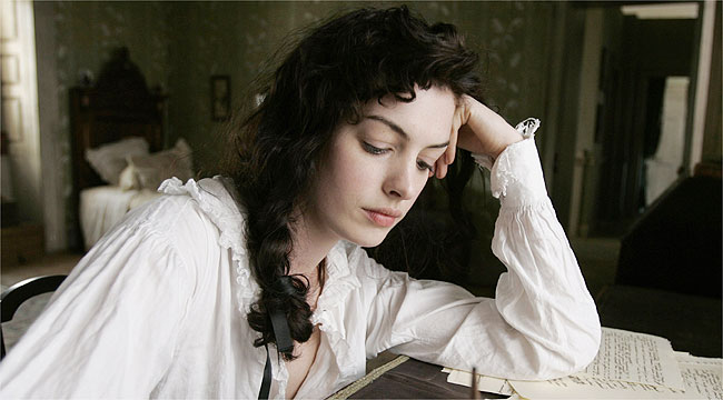 Hathaway felt pressure of becoming jane stuff tough role anne hathaway portrays writer jane austen in becoming jane as a young woman publicscrutiny Gallery
