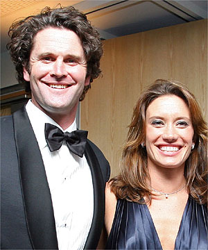 ON FIRE: Chris Cairns could do nothing as his wife Carin and two sons almost succumbed to a burning building in Belgium.