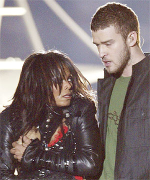 Justin and Janet just after the malfunction