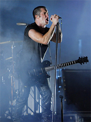 HURT: Nine Inch Nails frontman Trent Reznor encouraged his fans to steal music at a Sydney concert.