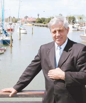 STRONG MANDATE: Whangarei's new mayor Stan Semenoff at the Whangarei Town Basin which was developed during his previous three terms as mayor in the 1990s.