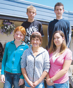 BRANCHING OUT: Back from left, Michael Roberts and James Richardson. In front, Hilary Derrick, Keegan Rumble and Olivia Manning.