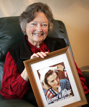 Weslee D'Audney became the face of American nursing recruitment in World War II.