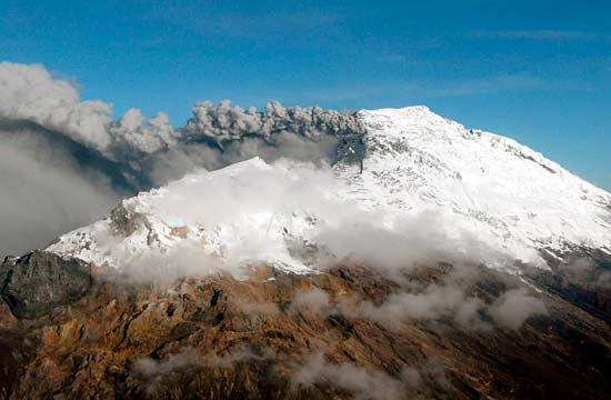 ACTIVE: Volcanic activity can be seen on Nevado del Huila.