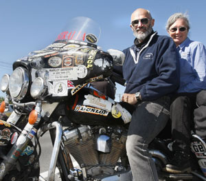 High Country Harley >> Couple take record one country at a time | Stuff.co.nz