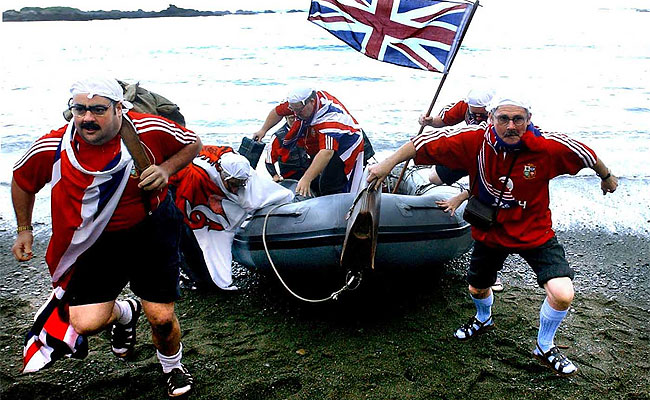 BARMY IDEA: Telecom spoofed the British in this 2005 ad, but UK visitors matter to the tourist industry.