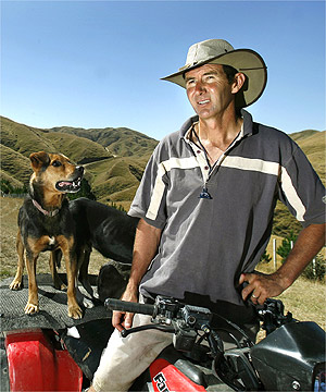 NEW ENERGY: Turbines will be built on the range behind Ohariu Valley's Greg Best. He says the idea was raised more than a decade ago.