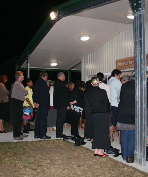 IT'S HERE: Okaihau College officially opened its marae last Friday.