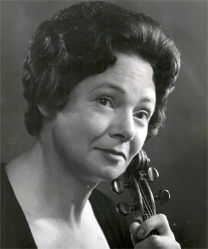 CALM AND COLLECTED: Ruth Pearl attributed her stage composure to having to play lunchtime recitals amid the rattle of teacups and cutlery in World War II factories.