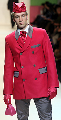 BELLBOY CHIC:  An outfit from the WORLD Autumn/Winter 2009 collection.