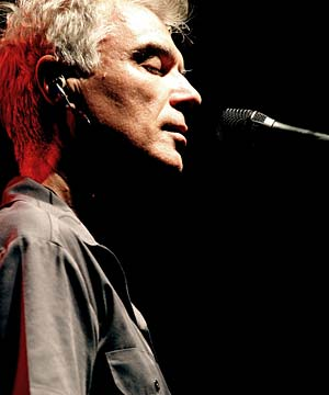 ALL KILLER: David Byrne is touring the best of his work with Brian Eno in February.