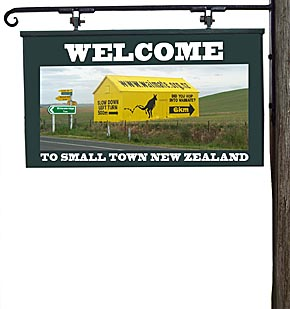 Sign of the times: small towns in New Zealand are wanting new residents.