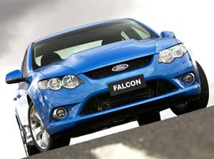 GETTING THE CHOP: The FG XR8, possibly the last with Falcon to come with a V8 engine. With emissions laws getting tougher, and more consumers thinking about petrol prices and the environment, Ford is making no promises to keep a V8 version of the Falcon.