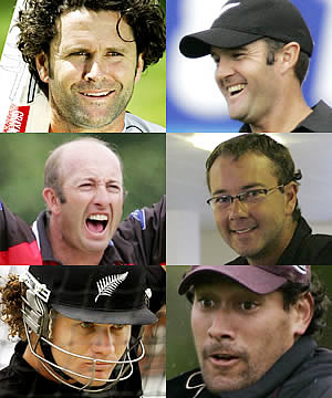 BANNED: Former Black Caps Chris Cairns, Nathan Astle, Chris Harris, Craig McMillan, Hamish Marshall and Darryl Tuffey will not be considered for any representative selection after they played in the rebel Indian Cricket League.
