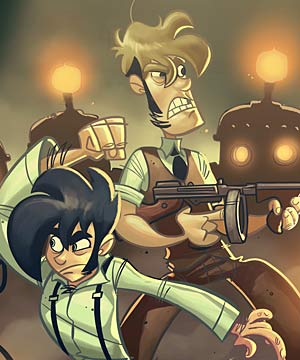 DRAWN OUT: Penny Arcade is one of the most popular comics on the web.