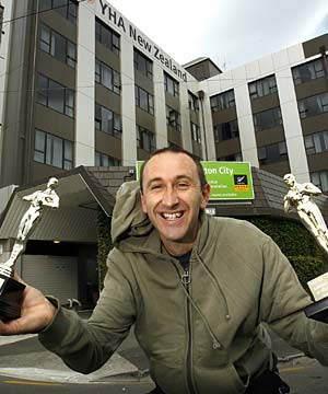 TWO IN A ROW: Chris Sperring, whose Wellington YHA hostel has picked up a second top hostel in Australia and New Zealand award in succession, says former travellers are his key employees.