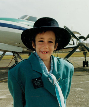 CAPTURING A NATION: Eve van Grafhorst dressed as an Air New Zealand hostess in 1992.