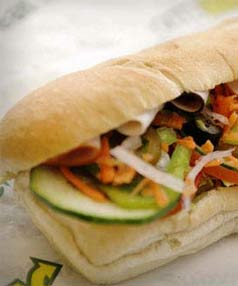 YOU'RE DOING IT WRONG: A disgruntled customer complained that sandwiches in Subway ads are stacked wrong.
