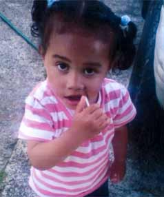 FATALLY INJURED: Cherishsiliala Tahuri-Wright, 3, known as Cherish, suffered severe head injuries at a house in Marton.