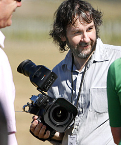 STAR TURN: Peter Jackson caused more of a scene than the mid-air dogfighting when he turned-up at an airshow.