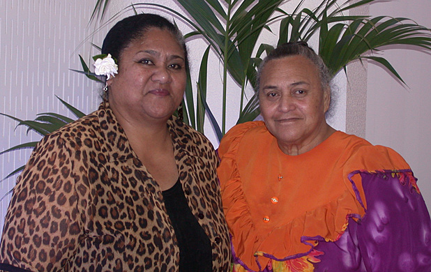 PACIFIC VOICE: Newly elected Pacific Islands Advisory Committee chairwoman Tupou Manapori, right, and deputy chairwoman Salote Lilo say the Pacific community's voice should not be lost in Auckland region's supercity structure.