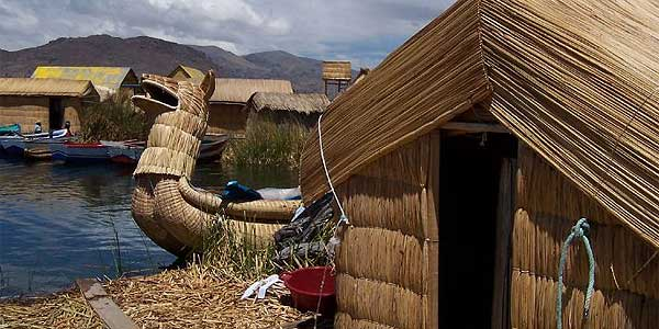 ISLANDS OF UROS: These floating islands in Lake Titicaca are home to families who never set foot on dry land.