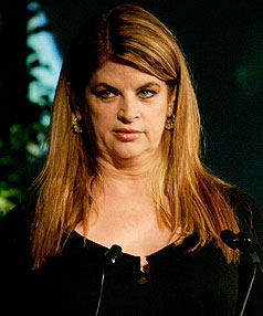 ON THE WAGON: Actress Kirstie Alley is determined to be in a bikini again by November.