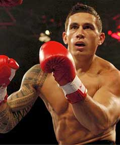 SMASHED HIM BRO: Sonny Bill Williams closes in on Gary Gurr during their bout in Sydney.