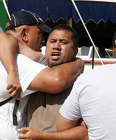 GUILTY PLEAS: John Junior Popata, (pictured) and Wikatana Popata withdrew earlier not guilty pleas to a charge of assaulting Mr Key outside Te Tii Marae at Waitangi.