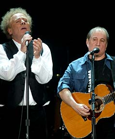 STILL MAGIC: Simon and Garfunkel, pictured in a 2004 performance, opened their Australasian tour in Auckland with a spine-tingling show.