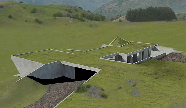 Michael hill 39 s 39 invisible 39 houses get go ahead for Underground house design