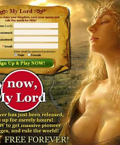 One of the ubiquitous Evony ads.