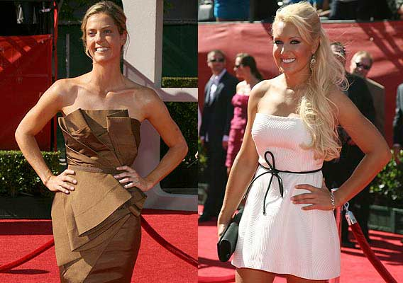 LPGA golfers Anna Rawson of Australia (left) and Natalie Gulbis of the US, arrive for the taping of the 2009 ESPY Awards in Los Angeles. The awards show will be telecast on ESPN.