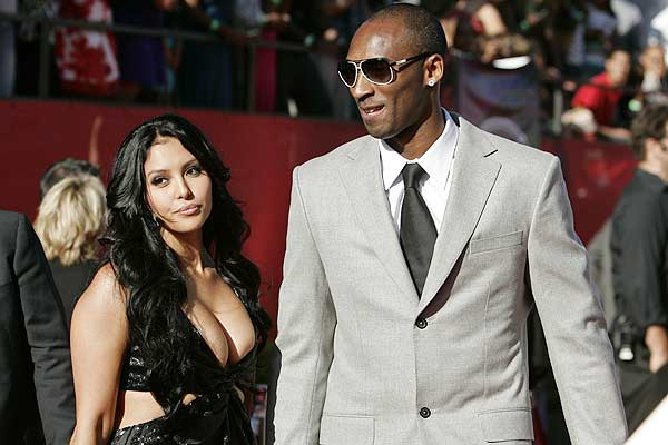 Los Angeles Lakers star Kobe Bryant with wife Vanessa at the ESPY Awards ceremony taping in Los Angeles.