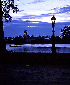 QUAINT VIEW: Kampot is a quiet riverside town just a few kilometres from the Gulf of Thailand.