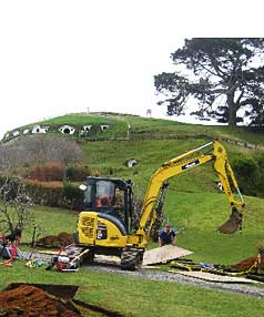IT'S BACK: The farmer's paddock made famous as Hobbiton in the Lord of the Rings movies is being resurrected for two The Hobbit prequel films.