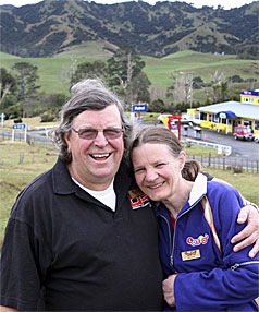 LOTTO LEGENDS: Bill and Brenda Rogers have won Lotto's nationwide retailer competititon from their secluded settlement of Oparau, on the west coast near Kawhia.