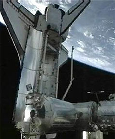 Endeavour docked to ISS