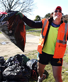 Keith Lowen has gone from running around rugby fields for money to earning his living as a rubbish collector.