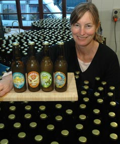 BOTTLED GOODNESS: Rebecca Hardie Boys reckons her fresh ginger beer is a flu fighter, stomach settler and great hangover cure.