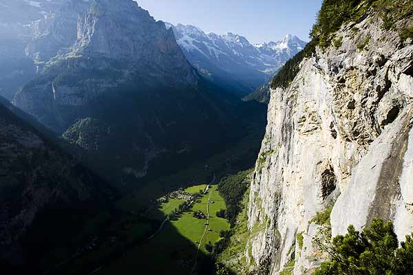 A general view shows the Lauterbrunnen valley in the Bernese Oberland, Switzerland which is a long-time haven for base jumpers.