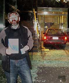 TAXBREAK: David Theobald said he was prepared to accept the consequences after driving his car into an IRD building.