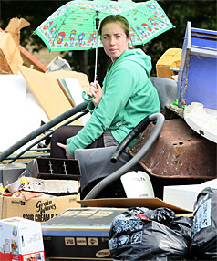 LOAD OF RUBBISH: Olivia Jones is one of many Huntly people who fell prey to an inorganic rubbish collection hoax.