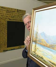 CHARLTON OR McCAHON? Former Hutt councillor John Austad offered  to donate a John Charlton painting to the then Dowse  in 2001 if they sold the McCahon.
