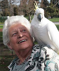 Merle Patrick, of Temuka, at the town's aviary