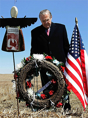 Rumsfeld at Pennsyvania site