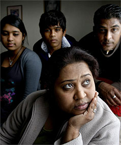 Sunita Khan and her family must leave New Zealand by September 21 and return to Fiji. With her are her husband Hamin, son Shahil and daughter Pretisha.