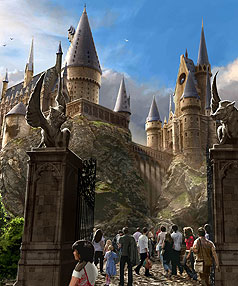 Sneak peek at Harry Potter park