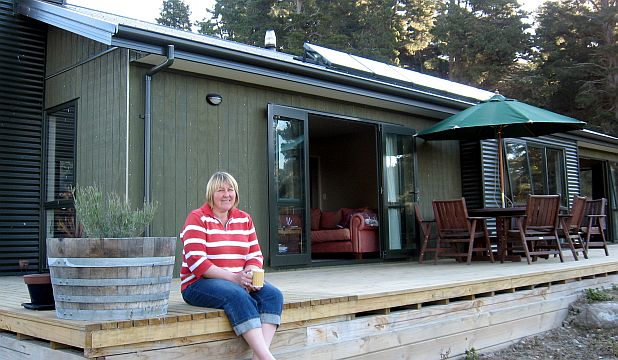 Green energy: Maree Handy's solar-powered cottage has attracted plenty of attention.